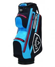 Callaway Chev 14 Dry Cart Bag 2021 BLACK/CYAN/RED