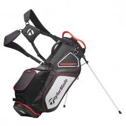 TaylorMade Pro 8.0 Stand Bag BLACK/WHITE/RED