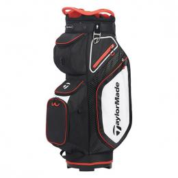 TaylorMade Pro 8.0 Cart Bag BLACK/WHITE/RED