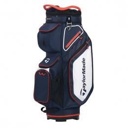 TaylorMade Pro 8.0 Cart Bag NAVY/WHITE/RED