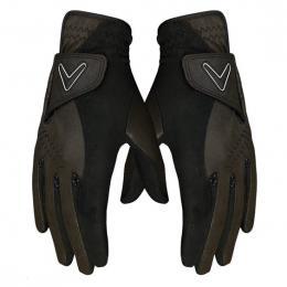 Callaway Opti Grip Rain pánské golfové rukavice (Pair Pack) BLACK, Velikost S, XL
