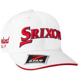 SRIXON Z-STAR TOUR STAFF CAP White/Red