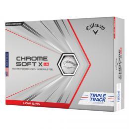Callaway Chrome Soft X LS Triple Track Golf Balls WHITE