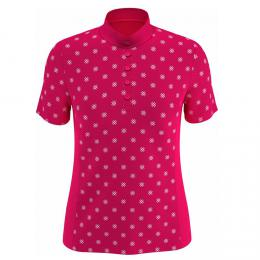 Callaway Chev Floral Print Ladies Polo RASPBERRY SORBET, Velikost S