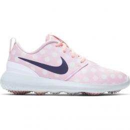 NIKE GOLF ROSHE Echo Pink/White/Gridiron juniorské golfové boty, Velikost 37.5, 38.5 UK