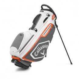 Callaway CHEV Stand Golf Bag WHITE/CHARCOAL/ORANGE
