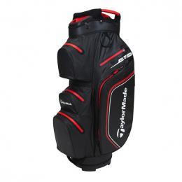 TaylorMade Storm Dry Waterproof Cart Bag BLACK/RED