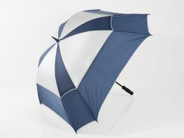 JuCad Windproof Umbrella with pin BLUE/SILVER