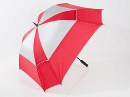 JuCad Windproof Umbrella with pin RED/SILVER
