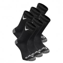 Callaway Sports Crew pánské ponožky, BLACK, 3 páry- velikost 42-46 EUR