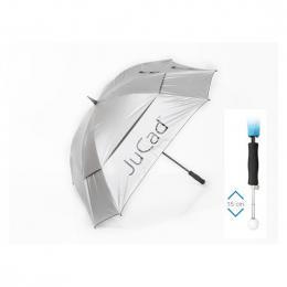 JuCad Windproof Telescopic Umbrella SILVER