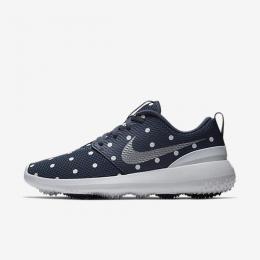Nike Roshe G Ladies Golf Shoes Blue White Polka Dot, Velikost 36.5 EUR