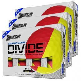 36ks Srixon Q-Star TOUR DIVIDE BRITE ORANGE/YELLOW
