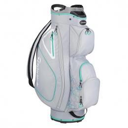 TaylorMade Kalea Ladies Cart Bag Grey/Silver/Green