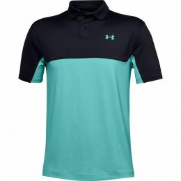 UNDER ARMOUR PERFORMANCE POLO 2.0 COLORBLOCK Black/Radial Turquoise Velikost M, L, XL, XXL