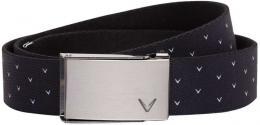 Callaway Print Reversible Ladies Belt CAVIAR, dámský opasek