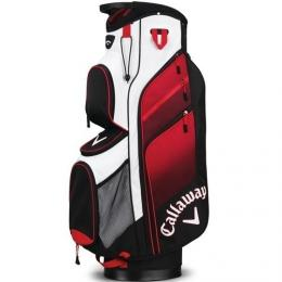 Callaway Chev ORG 14 Cart Bag BLACK/RED/WHITE