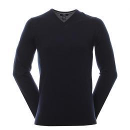 Callaway Ribbed Merino V-Neck Sweater  BLACK ONIX, velikost XS, S, M, L, XL