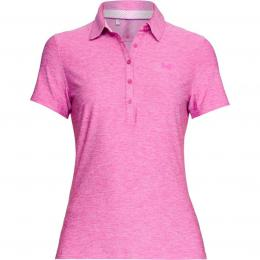 Under Armour Ladies Zinger SS Golf Polo Fluo Fuchsia, velikost M