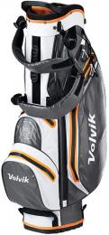 Volvik Waterproof Golf Stand Bag WHITE/ORANGE/GREY
